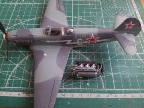 Сборка Як-3 Звезда 1:48 - шаг 3. Декали и двигатель