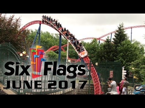 Six Flags New England June 2017 Park Footage