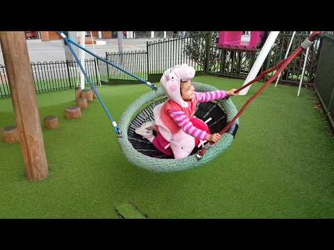 Thumbnail: Playing in the Park / Playground for Kids Pink Car Peppa Pig Slide