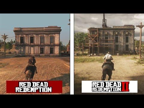 Red Dead Redemption 2 | New Austin Map Comparison | RDR 1 vs RDR2 Evolution