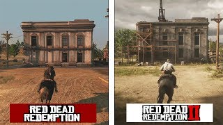 Red Dead Redemption 2 New Austin Map Comparison RDR 1 vs RDR2 Evolution