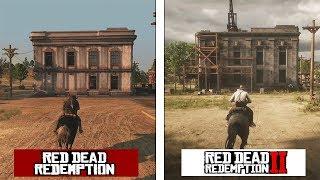 Red Dead Redemption 2 | New Austin Map Comparison | RDR 1 vs RDR2 Evolution Video