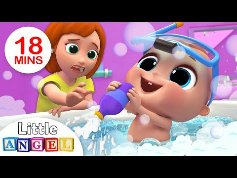 Baby Bath Time | Bath Song | Kids Songs And Nursery Rhymes By Little Angel