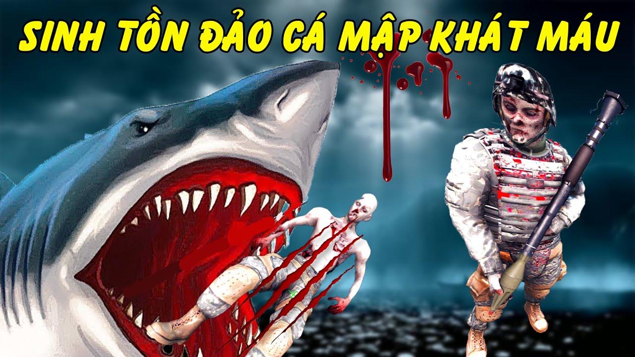 GTA 5 - Sinh tồn ở đảo hoang cá mập khổng lồ khát máu | GHTG