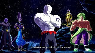 DRAGON BALL FighterZ DLC 5  Easter Eggs Full Power JIREN All Special Funny Interactions & Quotes