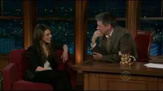 Mila Kunis Late Late Show Craig Ferguson 2011