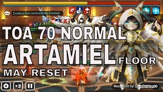 TOA 70 ARTAMIEL SUMMONERS WAR WIND MONKEY KING AND LIGHT YETI NORMAL STAGE