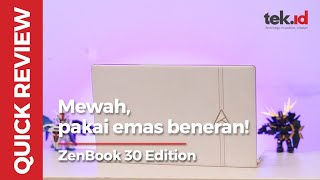 ASUS ZenBook Edition 30, mewah dengan emas sungguhan!