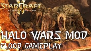 Halo Wars Mod - Flood Gameplay - Starcraft 2 Mod