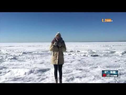 Se congela el mar en Massachusetts