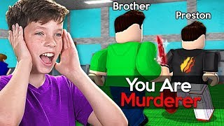 ROBLOX LITTLE BROTHER PLAYS SIMON SAYS in MM2! *HILARIOUS*