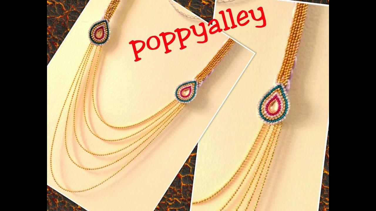 How to make silk thread step chain at home | silk thread jewellery ...