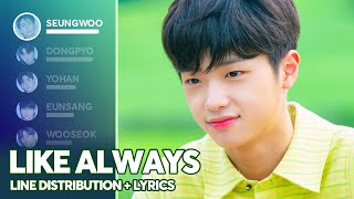 X1 - Like Always (Line Distribution + Lyrics Color Coded) PATREON REQUESTED