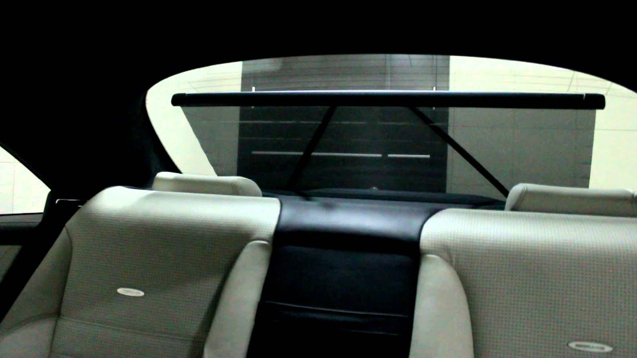 mercedes cl 63 amg rear curtain youtube. Black Bedroom Furniture Sets. Home Design Ideas