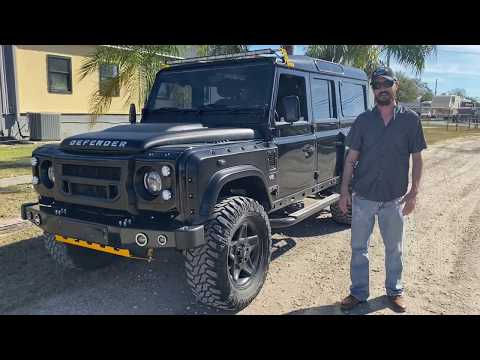 Smash's Metallic Black 1994 Defender 110, Smash Custom's latest arrival...