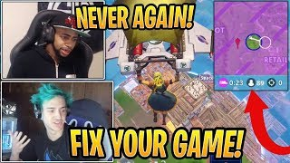 Ninja and Daequan RAGE at Epic After Losing to Lag in $10M Skirmish! - Fortnite Moments