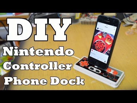 convert nintendo controller into a phone dock youtube. Black Bedroom Furniture Sets. Home Design Ideas