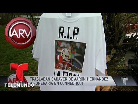 Trasladaron cuerpo de Aarón Hernández a Connecticut | Al Rojo Vivo | Telemundo