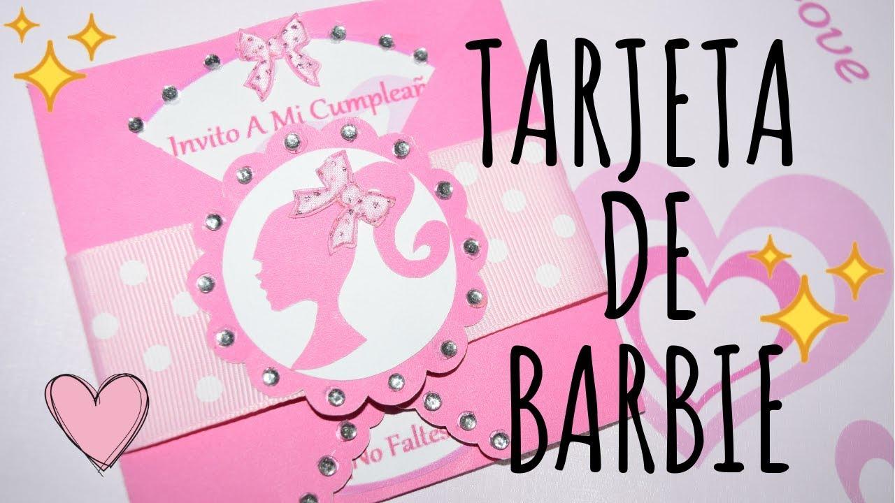 Tarjeta De Invitación Fiesta De Barbie Karol
