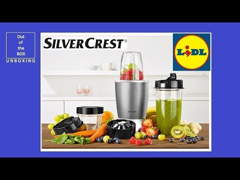 SilverCrest Nutrition Mixer SNM 700 A1 KAT UNBOXING (Lidl 20000 RPM 700W 800ml 500ml 200ml)