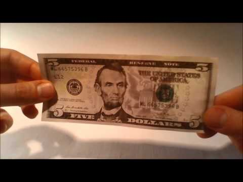 Five US Dollar Bill - Security And Design Features