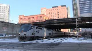 Amtrak and Metra Trains at Canal Street!