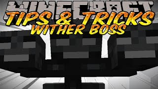 Minecraft Tips and Tricks - How to kill the wither Boss without taking damage & Obsidian Farming