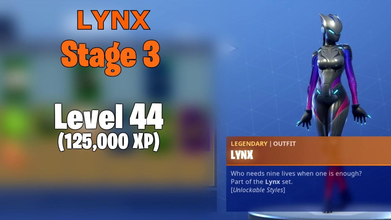 Fortnite Skin Upgrades Zenith Lynx By Levels Youtube