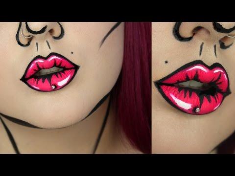 Pop Art Lips Makeup Tutorial | Jordan Hanz