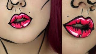 One of Jordan Hanz's most viewed videos: Pop Art Lips Makeup Tutorial | Jordan Hanz