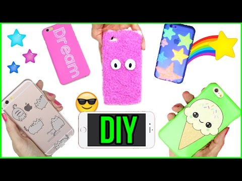 5 DIY Phone Case Designs! How To Make Pusheen, Kawaii, Glow in the Dark & More-Easy Phone Cover DIYs