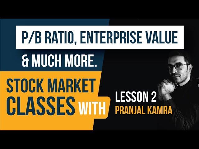 Stock Market Classes lesson 2 - P/B Ratio & Enterprise Value in Hindi   Fundamental Analysis