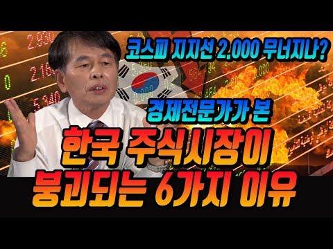 대한민국 주식시장 연일 폭락 중! ≪한국 주식시장이 붕되되는 6가지 이유≫