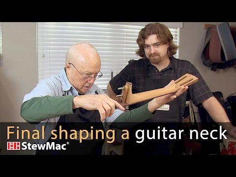 Final shaping a guitar neck