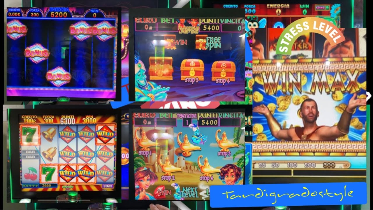 Slot Da Bar e Tabacchi -BONUS Golden Gold (Toucans Vegas Vacation),7JACK(Aladdin e Jasmine)RED GAMES