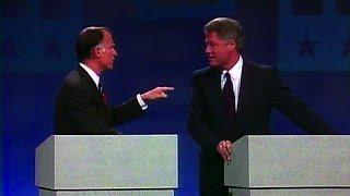 Bill Clinton, Jerry Brown trade jabs at 1992 Democratic primary debate