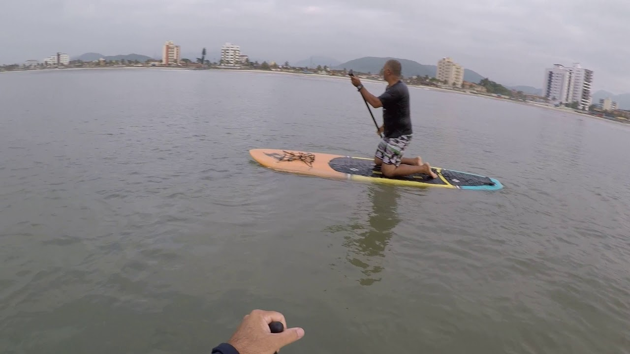 85d6c54f7 Stand Up Paddle - Remada no mar a primeira vez. - parte 01 - YouTube