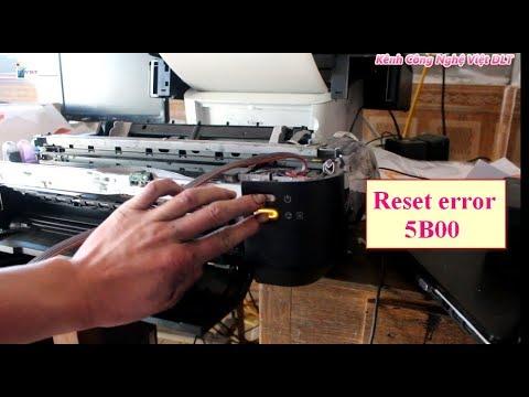 How To Solves Error 5B00 On Printer Canon  IX 6560 Reset now