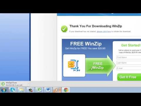 How to Open Zip Files with WinZip - YouTube