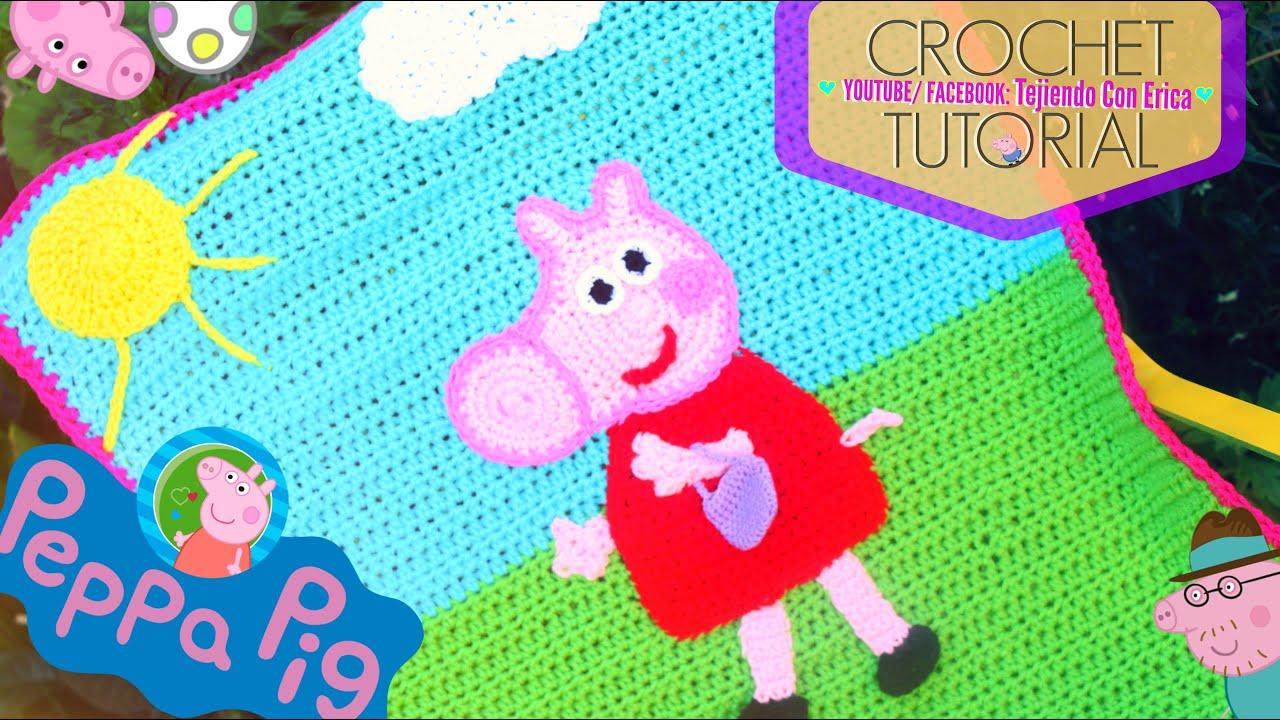 Amigurumi Tutorial Peppa Pig : Peppa pig cobija crochet tutorial tejiendo con erica youtube