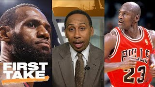 Download Stephen A. Smith: LeBron James can never surpass Michael Jordan | First Take | ESPN Mp3 and Videos