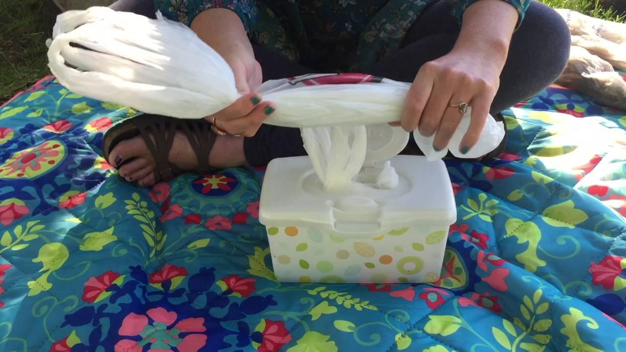 DIY Plastic Bag Storage In Wipes Case Or Kleenex Box