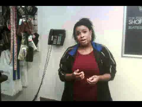 Astrid the opera singing sales clerk