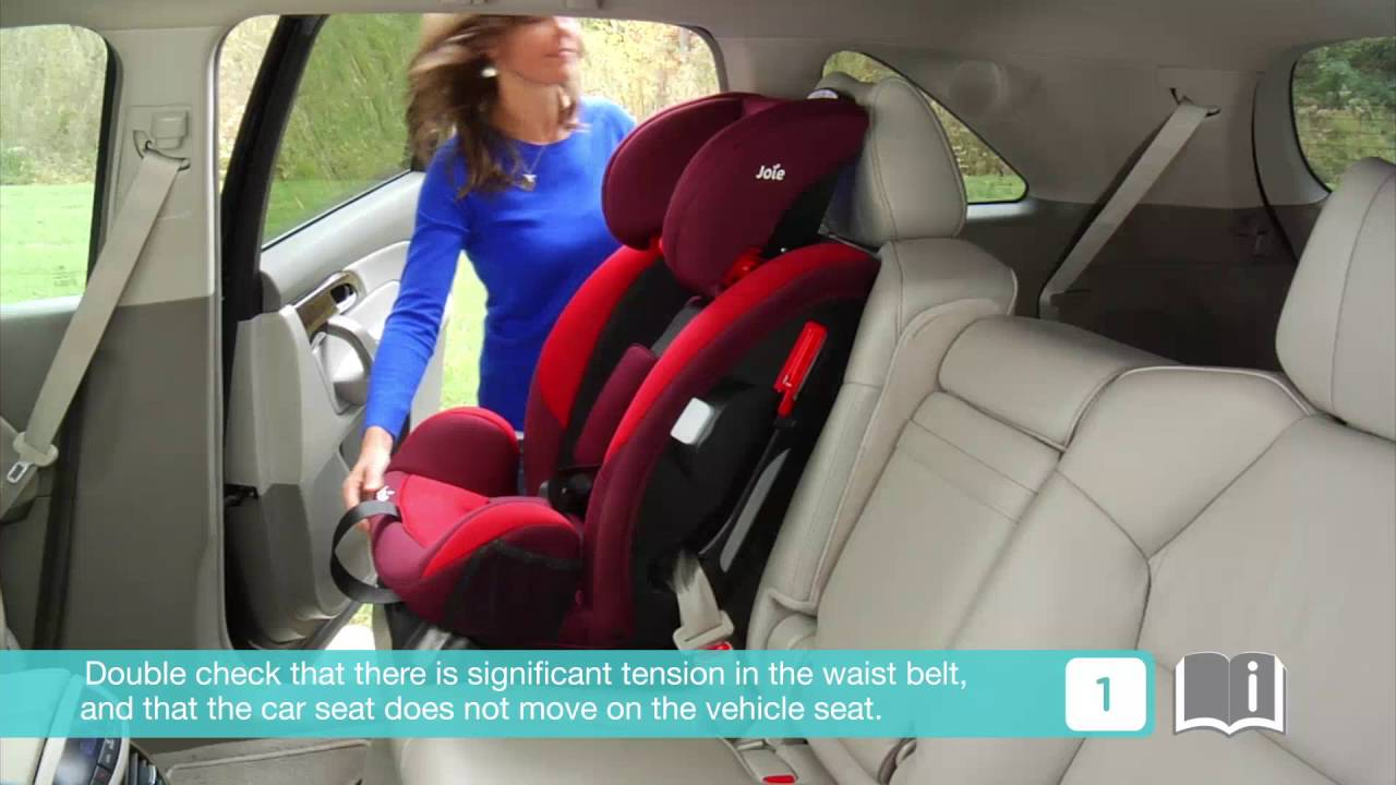Installing child restraint systems with AELR seatbelt