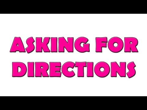 10 Dakikada İngilizcede Yönler - Yön Sorma (Asking For Directions)