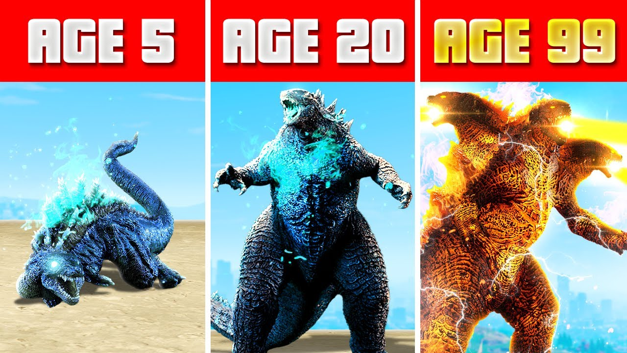 Download SURVIVING 99 years as GODZILLA in GTA 5 (GTA 5 Funny Moments)