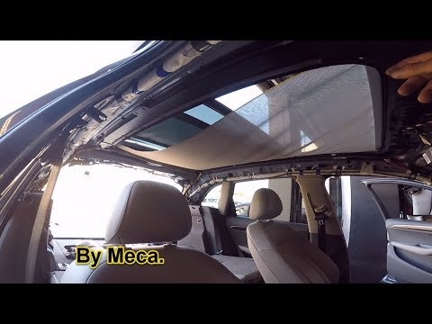 How to remove the headliner and replace the sliding sunroof shade 2010 Q5 Audi