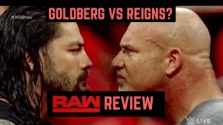 WWE Raw 1/2/2017 Review | WWE Teases Reigns vs Goldberg
