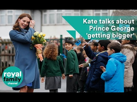 Kate talks about Prince George 'getting bigger'
