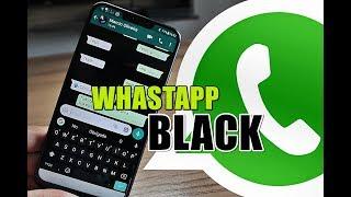 WhatsApp Black! Como personalizar o TEMA BLACK ou MODO ESCURO nas conversas do WhatsApp